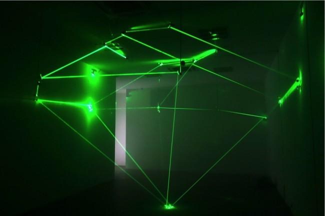 Tao Na, Great Diamond, 2014, installazione, laser e specchi
