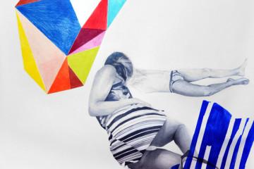 Valentina Biasetti MILLIMETRI (sensazioni di cose minime) #12, 2015,  matite, matite colorate e acrilico su carta, cm 105 x 155