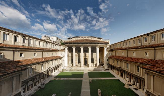 Il cortile del Museo Lapidario Maffeiano Foto Ottica Nodari