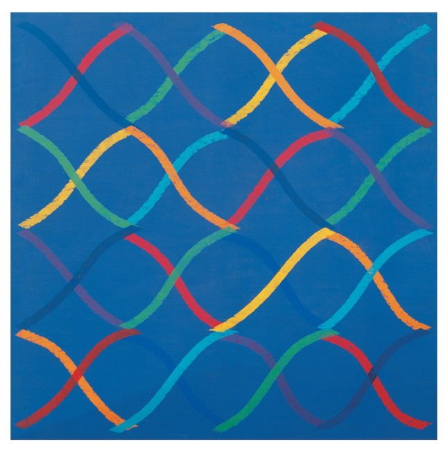 Piero Dorazio, Drole d'ame, 1965, olio su tela, 130x130 cm Courtesy Lorenzelli Arte, Milano