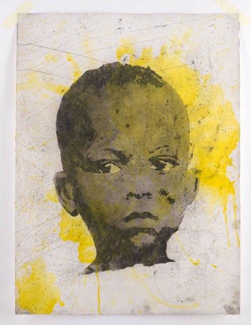 Nicola Villa, Internazionale 4, 2009, acquaforte e acquatinta su rame, colorata a mano, 70x50 cm