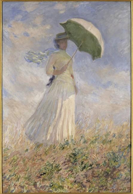 Claude Monet, Essai de figure en plein-air: Femme à l'ombrelle tournée vers la droite, 1886, olio su tela; 130.5x89.3 cm; inv. RF 2620 14(i.d 30) Monet 14. Paris, Musée d'Orsay © RMN-Grand Palais (Musée d'Orsay) / Hervé Lewandowski