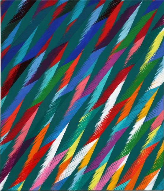 Piero Dorazio, Al Vivo II, 1989, olio su tela, 70x60 cm Courtesy Lorenzelli Arte, Milano
