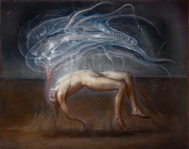 Agostino Arrivabene, Rapture (Ganimede), 2012, olio su lino, cm 180x230