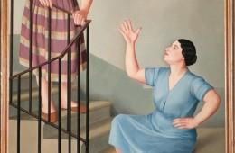 Antonio Donghi, Donne per le scale, 1929, olio su tela, 155.5x111 cm Collezione Banca Monte dei Paschi di Siena