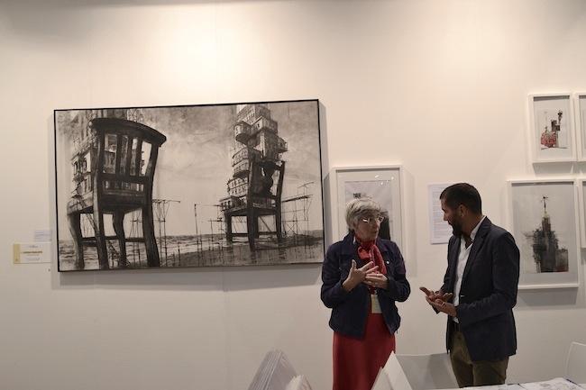 """Opera di Luis Israel Gonzales. Titolo: """"Insediamenti"""".Tra le 10 finaliste del Premio Icona. ArtVerona 2014"""