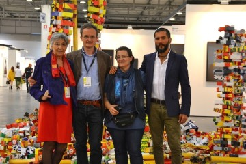 Installazione di Raffaella Formenti. ArtVerona 2014. Staff Isolo17 con artista