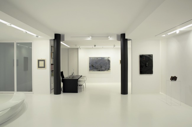 Galleria 2000&NOVECENTO, veduta allestimento, Marco Gastini, Giuseppe Spanulo