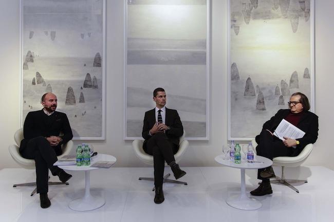"""Incontro """"ARTE 2.0 – Il collezionismo nell'era digitale"""", 29 gennaio 2015, Banca Sistema, Milano. Foto Andrea Sartori. Courtesy Banca Sistema"""