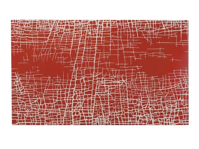 Massimiliano Galliani, Le Strade Del Tempo #4, 2013, acrilico e polvere di marmo su tela, 90x152 cm