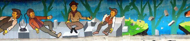 """Bibbito, Muro dipinto, evento collaterale """"In Contemporanea"""" 2015, Reggio Emilia"""