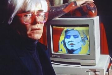 Presentazione Amiga 1000, Andy Warhol e Debbie Harry, 1985