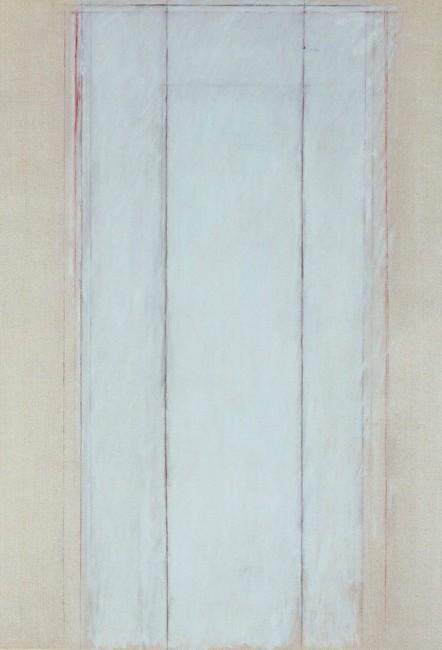 Sandro De Alexandris, Trasparente III, 1997, olio e pastelli su tela, 145x100 cm