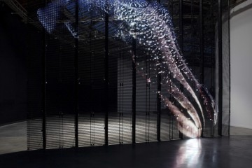 """Philippe Parreno, TV Channel, 2013 (detail) On screen: Alien Seasons, 2002 Exhibition view, """"Anywhere, Anywhere, Out Of The World"""", Palais de Tokyo, 2013 Courtesy the Artist, Pilar Corrias and Esther Schipper Photo © Andrea Rossetti"""
