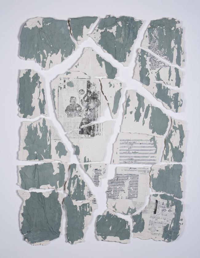 Annalisa Guerri (Roma 1979) Ancora qui, 2013, porcellana e paperclay colorata, cm 120x90