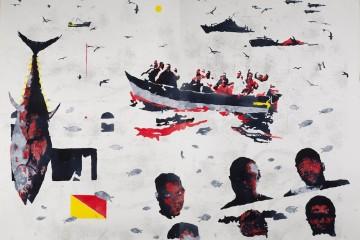 Nicola Villa, Mediterraneo, 2010, acquerelli su carta, 120x160, due elementi, 120x80 cm