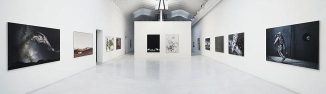 Veduta della mostra Michael Najjar, outer space, Studio la Città, Verona