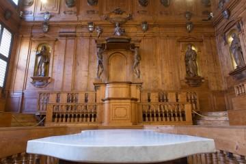 Nicola Samorì, Gare du Sud, visione della cattedra dal tavolo settorio. Foto: Rolando Paolo Guerzoni