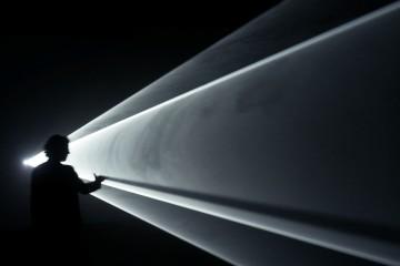 Anthony McCall. Solid Light Works, veduta dell'esposizione, MASILugano, Lugano 2015 Foto Stefania Beretta, Verscio