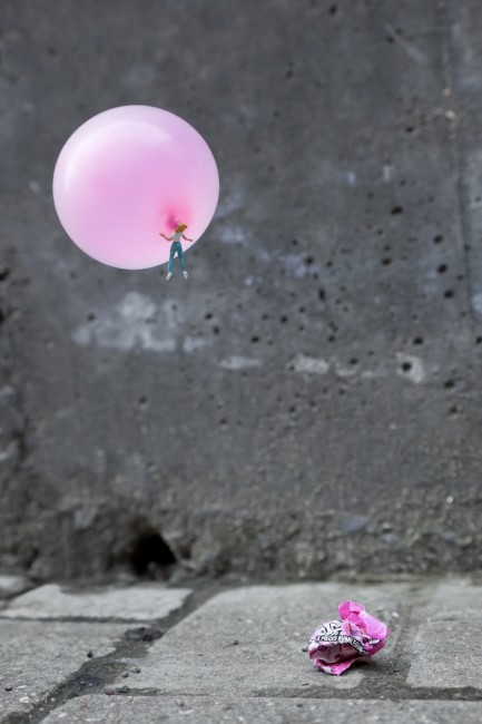 Slinkachu, Sugar High, Kings Cross, London, UK 2011