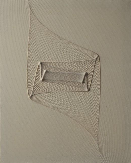 Marco Ulivieri, Sigillo, 2014, quarzite e resina acrilica su cotone, 80x90x2 cm