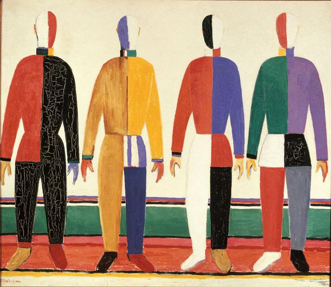 Kazimir Malevič Sportivi, 1930-1931 Olio su tela 142 x 164 cm Museo di Stato Russo, San Pietroburgo