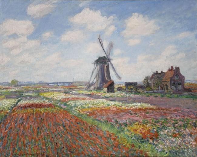 Claude Monet, Champs de tulipes en Hollande, 1886, olio su tela, 65.5x81.5 cm, 12 (i.d 31) Monet 12, Paris, Musée d'Orsay © RMN-Grand Palais (Musée d'Orsay) / Franck Raux