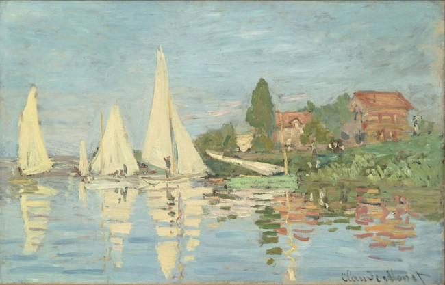 Claude Monet, Régates à Argenteuil, 1872, olio su tela, 48x75.3 cm, inv. RF 2778 2.(id 8) Monet 2, Paris, Musée d'Orsay © RMN-Grand Palais (Musée d'Orsay) / Patrice Schmidt