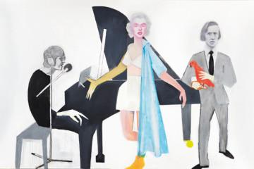 Beppe Devalle, Guardandovi (John Lennon, Marilyn Monroe, Frédéric Chopin), 2010, collezione privata