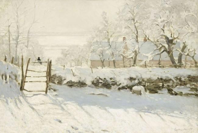 Claude Monet, La pie, entre 1868 et 1869, olio su tela, 89x130 cm, inv. RF 1984 164 3. (id 5) Monet 3, Paris, Musée d'Orsay © RMN-Grand Palais (Musée d'Orsay) / Hervé Lewandowski
