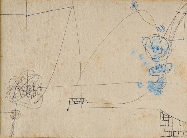 Alberto Burri, Copertina 5, 1953-54, inchiostro, tempera, vinavil su tela, 36,5x50 cm Fondazione Palazzo Albizzini Collezione Burri