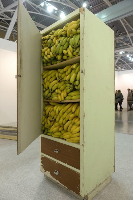 Artissima 2015, Premio Illy, Alina Chaiderov, Before 1989 we kept the bananas in the closet (2014) Foto Perottino Alfero