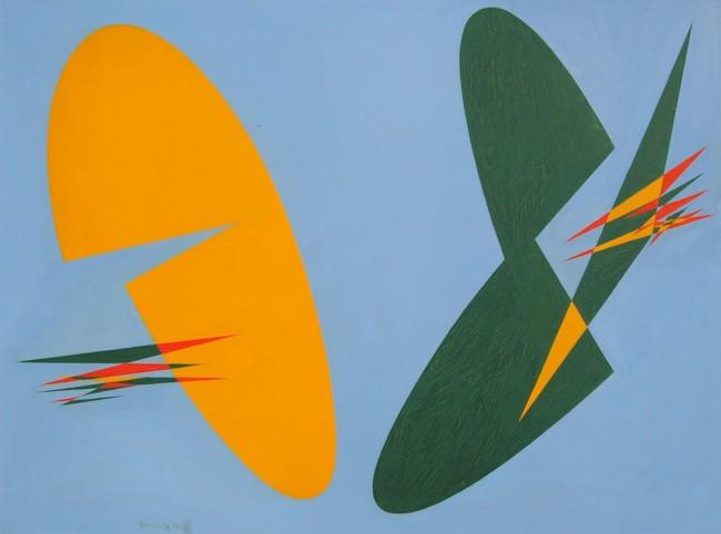 Angelo Bozzola, Concreto, 1954, olio su masonite, 69.5x92.8 cm Fondazione Angelo Bozzola, Galliate