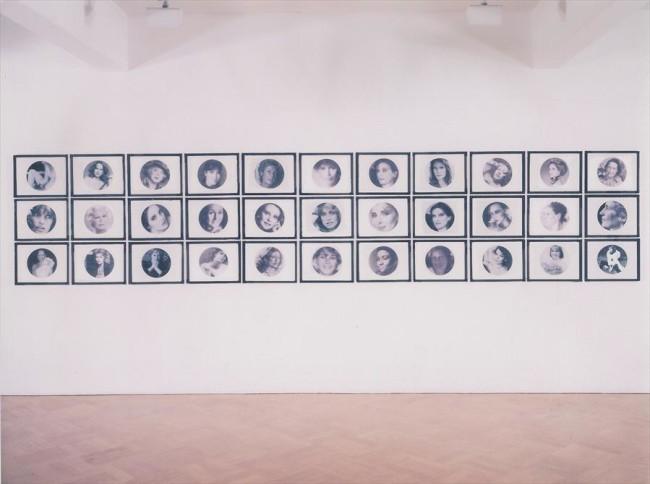 Francesco Vezzoli, Embroidery of a Book: Young at Any Age, 2000, 33 stampe laser su tela in bianco e nero con ricami in filo metallico, 33.5x44 cm ciascuna, Collezione Gemma De Angelis Testa, Milano
