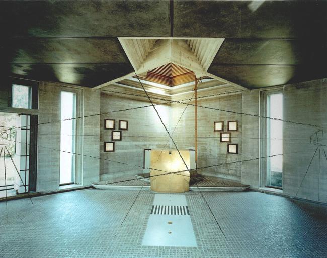 Guido Guidi, da La tomba Brion di Carlo Scarpa, #16969, 09-06-2006, around 12.05pm, looking north, c-print, framed cm 41,5x46,5 © Guido Guidi courtesy Viasaterna