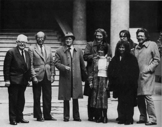 Jilien Freund, Niklas Luhman, Attilio Sartori, Hans Dieter Bahr, Agnès Heller, Giulio Giorello, Rossella Prezzo, Mario Perniola