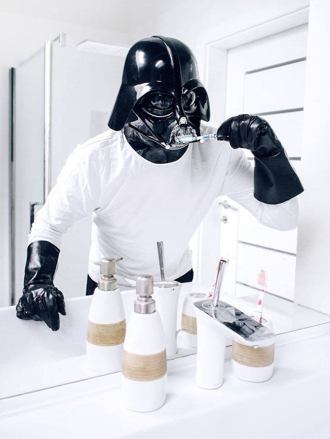 """The daily life of Darth Vader"" - Pawel Kadysz"