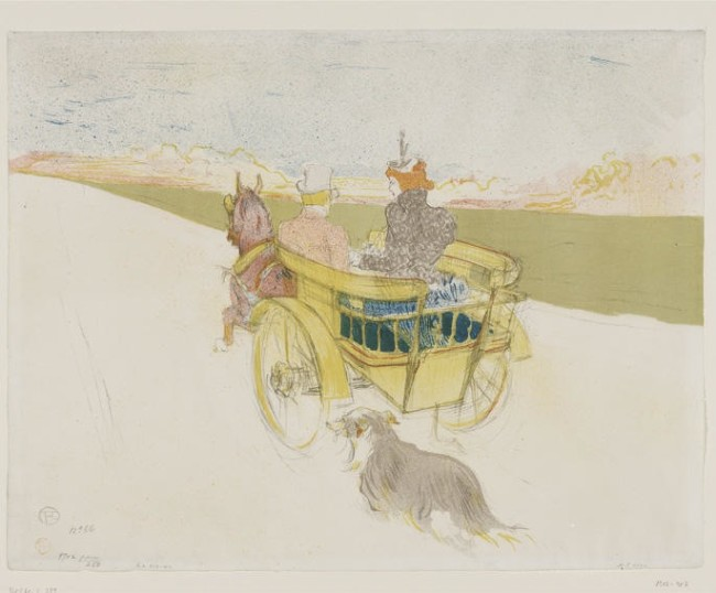 Henri de Toulouse-Lautrec, Country Outing, 1897, lithograph in six colours, 39.9x51.6 cm, Galleria Nazionale, Budapest