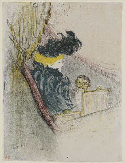 Henri de Toulouse-Lautrec, Princely Idyll, 1897, lithograph in six colours on wove paper, 61x47 cm, Galleria Nazionale, Budapest