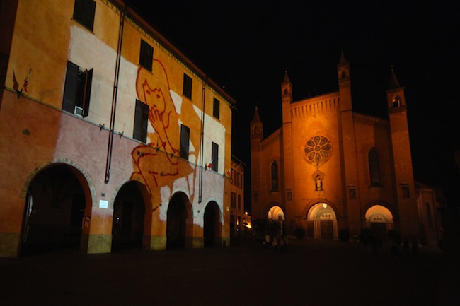 Valerio Berruti, Video mapping, 2013, Comune di Alba