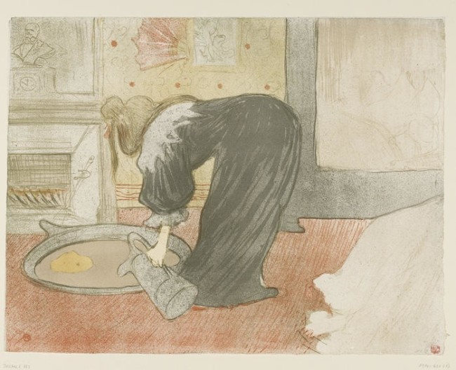 Henri de Toulouse-Lautrec, Woman at the Tub - The Tub, 1896, lithograph in five colours, 40.3x52.5 cm, Galleria Nazionale, Budapest
