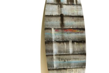 Mario Vespasiani, Pastello ad olio su tessuto applicato su tavola, 191x54.5 cm