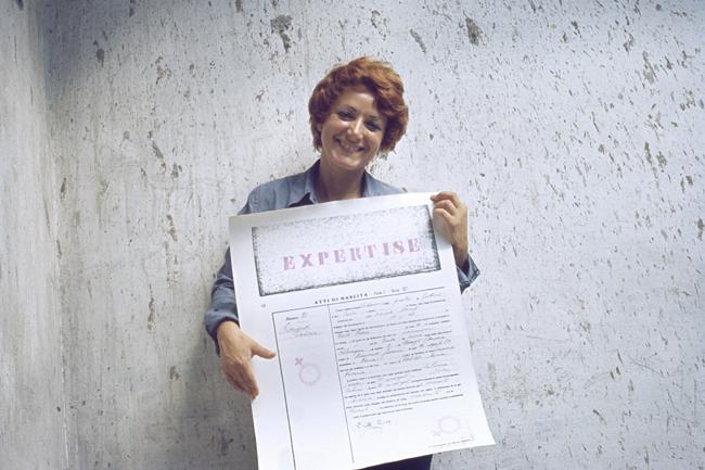Cloti Ricciardi, Expertise. Conferma di identità, 1972, fotografia, cm 30x20