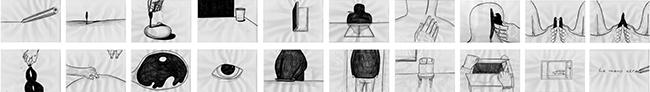 Lemeh42, La mano nera, matita su carta, cm 50x350, 2014