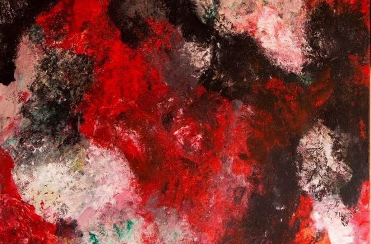 Marina Berra, Christmas' Passion, 2015, tecnica mista su tela, 60x60 cm