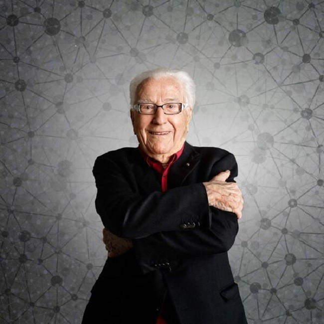 Un ritratto di Marino Golinelli. Foto: Giovanni Bortolani
