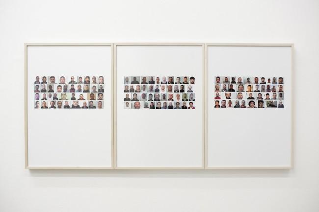 Fabrizio Bellomo, Pregiudicato rumeno tunisino, 2012-15, installation view, Galleria Rossana Ciocca, Milano