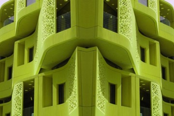 Maria Rebecca Ballestra, The Green City, stampa su rikbond+crystal, 60x90 cm