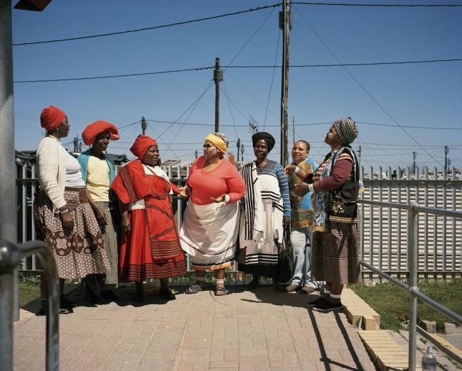 Tommaso Fiscaletti. Regina Gingqishe, Nozitsetse Ghana, Sylvia Ntantiso, Eunice Magwa, Nowongile Swebe, Noyose Mntuyedwa, Victoria Ralasi. Dunoon, Cape Town. 2014