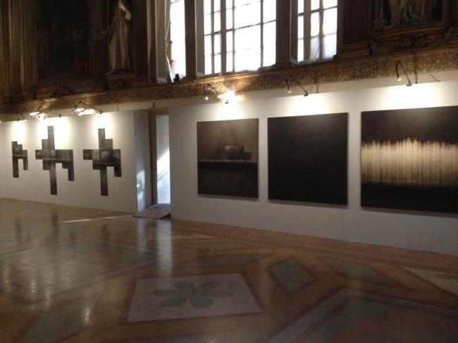 Veduta della mostra Composizioni. Ettore Frani e Lorenzo Cardi
